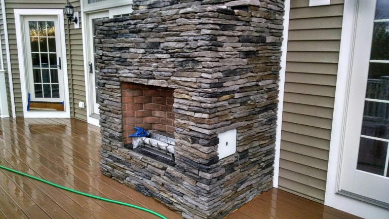 Outside-Stone Fire Places, Dartmouth MA.