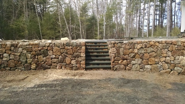 Retaining Wall, Freetown Ma.