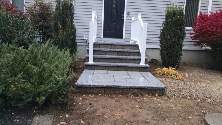 Stone Porch with Landing, Fairhaven MA.